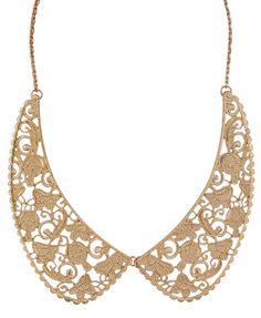 Filigree Peter Pan Collar Necklace