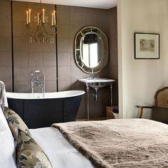 Baños de concepto abierto en el dormitorio, nueva tendencia