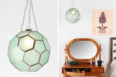 I want this somewhere in my house :)  Sage Honeycomb Shade via Brit + Co.