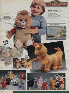 Teddy Ruxpin and Friends and all his outfits 1986