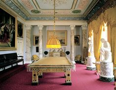 Osborne House & Gardens,the Billiard room , Isle of Wight , UK