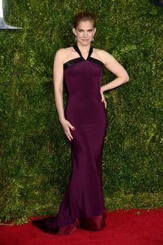Anna Chulmsky in custom Sophie Theallet   - ELLE.com