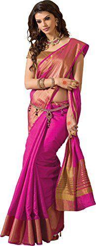 TAANSHI Womens Tassar Silk Saree (Taanshi2614d_Pink)