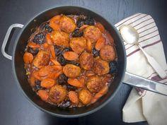 Persian Sweet & Sour Chicken Meatballs with Carrots & Prunes