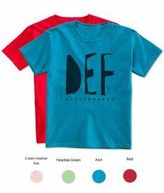 Kids skate t-shirt.  Organic cotton, hand printed silkscreen print with water based ink. Milan