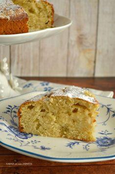 Pastel de pera y manzana con el toque justo de almendra.