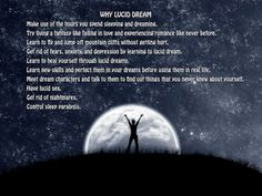 The reasons to lucid dream