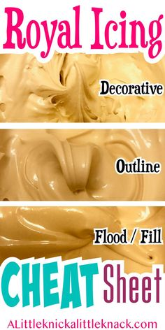 How to prepare the perfect consistencies of royal icing to decorate your cookies. #royalicing