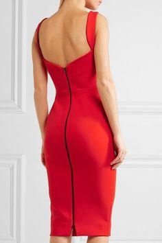 Victoria Beckham - Crepe Dress - Red - UK10
