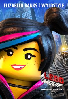 The LEGO Movie Poster: Elizabeth Banks is Wyldstyle(Wyldstyle's real name is Lucy!)