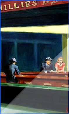 edward hopper nighthawks hoppers most famous painting its at the chicago art institute one you really must see to appreciate ? Most Famous Paintings, Chicago Art, A Level Art, Painting People, Art Institute Of Chicago, American Artists, Artist Art, Les Oeuvres, Art History