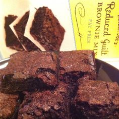 I made these simple, delicious non-fat brownies with under 100 calories per serving. Just add fat-free vanilla yogurt!