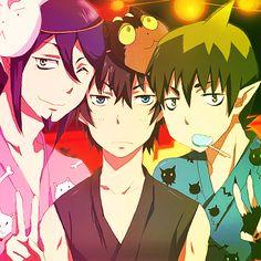 Blue Exorcist ~~ Mephisto Pheles, Rin Okumura and Amaimon