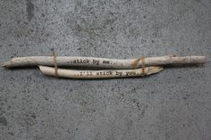 Stick by me... I'll Stick by you... by gneisswood on Etsy, $26.00