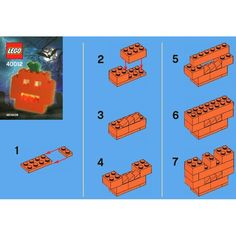 LEGO 40012 LEGO Halloween Pumpkin instructions displayed page by page to help you build this amazing LEGO Seasonal set Lego Halloween, Halloween Pumpkins, Vintage Halloween, Lego Duplo, Lego Club, Lego Minecraft, Minecraft Crafts, Minecraft Skins, Minecraft Buildings