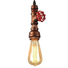 Homestia 1PC Europa-Stil Retro Red Bronze Eisen Aufhängeschlaufe hängende Lampe 47.24 Einstellbare Draht