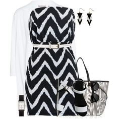 Black & White for Summer by lbite on Polyvore featuring polyvore, fashion, style, Sandwich, Sol Sana, Henri Bendel, Kate Spade, The Row, Jigsaw and clothing
