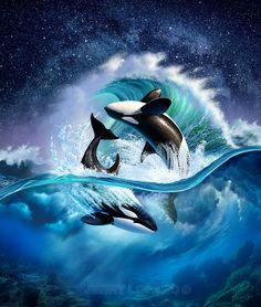ArtStation - Orca Wave, Jerry LoFaro