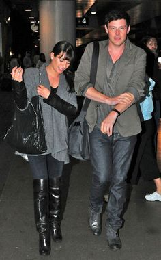 """""""Lea Michele & Cory Monteith at LAX."""" repinning old pictures I don't care.........."""