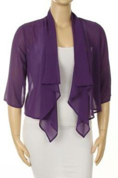 Purple Chiffon Bolero--for inspiration | DIY/ Sewing Projects ...