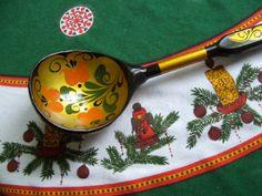 Large Vintage Russian Folk Art Painted Wooden by lookonmytreasures, $12.50