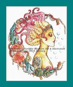 Octopus Mermaid Counted Cross Stitch by ACrossStitchFantasy