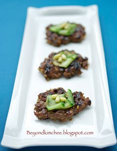 Beyond Kimchee: Korean Beef & Nut Patties, the Dduk-Galbi will drive you nuts!