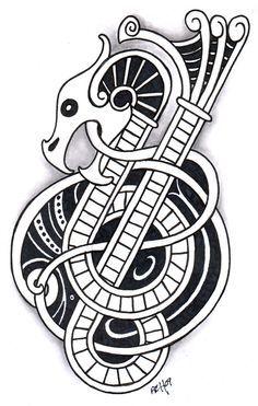 Viking Symbols and Meanings | Viking_Dragon_3_by_vikingtattoo