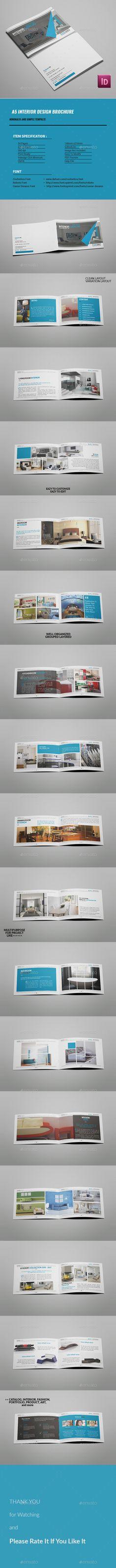 Interior Design Brochure Template InDesign INDD. Download here: http://graphicriver.net/item/interior-design-brochure/16703585?ref=ksioks