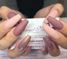 44 stylish winter acrylic coffin nail designs to copy right Stylish Nails, Trendy Nails, Pink Nails, My Nails, Nagellack Trends, Best Acrylic Nails, Acrylic Art, Simple Nail Designs, Acrylic Nail Designs Classy