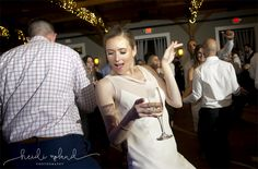 Willow Creek Winery, Modern Vineyard wedding reception Cape May NJ, bride dancing