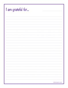 Gratitude Journal Page :: Organized Life {Free Printable} :: Alaina Ann