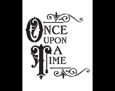 Once Upon A Time Word Art Stencil  8.5 x 11  por StudioR12 en Etsy