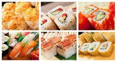 Futomaki – wykonane podobnie do Maki-Sushi, z tą różnicą, że są szersze (5-6 cm) i nie rzadko zawierają więcej niż 2 składniki.  Nigiri – ryż kształtuje się w ręku , a następnie kładzie się na nie jednego rodzaju rybę lub owoc morza.  Uramaki – rodzaj sushi, w których glon znajduje się wewnątrz ryżu obtoczonego często sezamem lub kawiorem.