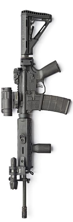 Mega lower and trigger dressed in Magpul-ness. By Stickman.