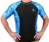 Cheap Aqua Design Men's Big Wave Rash Guard Short Sleeve Surf Swim UPF 50+ Shirt  Aqua Design Men's Big Wave Rash Guard Short Sleeve Surf Swim UPF 50 + Shirt design is a popular look good while protecting your skin from rashes and sun rays UVA / UVB radiation is harmful.