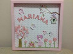 quadro para decoração e porta maternidade em scrapbook, pode ser alterado a cor e o tema.