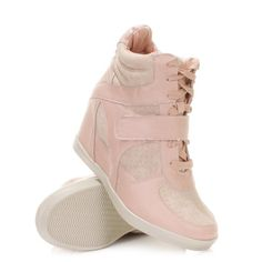 Pink Wedge Trainers. £26