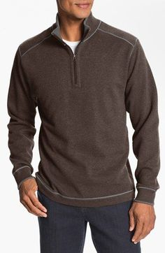 Cutter & Buck Regular Fit Quarter Zip Sweater (Big & Tall) | Nordstrom