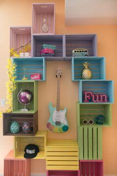 Kate - Shopping for Jessie Paege's Colorful Apartment Makeover Apartment Makeover, Diy Apartment Decor, Diy Bedroom Decor, Furniture Makeover, Diy Furniture, Furniture Storage, Colorful Apartment, Diy Crafts For Home Decor, Girl Bedroom Designs