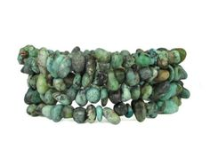 African-Turquoise-Pebbles-from-Northern-Cape-Memory-Wire-Bracelet-bc179