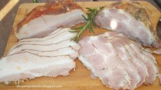 Mięso pieczone w soli na kanapki - Czytaj więcej » Smoking Meat, Charcuterie, Camembert Cheese, Sausage, Pork, Food And Drink, Fish, Advent, Kale Stir Fry