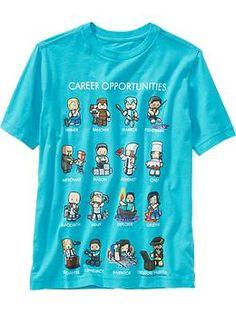 "Boys Minecraft™ ""Career Opportunities"" Tee | Old Navy"