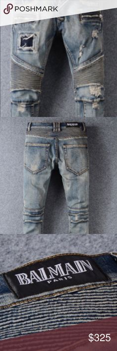 Balmain Jeans Men Sizes *ASK*If item is in stock, if not we will have to place a order for your item. *Every item is authentic*                           Shipping Takes 6-8 Days This is Bro'sKicks! Thanks! Balmain Shoes Sneakers