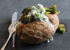 Tandoori Broccoli Stuffed Potatoes   Vegetarian Times