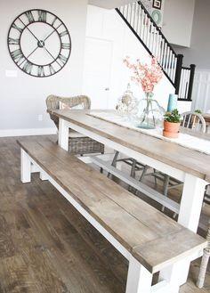 Gorgeous 80+ Stunning Rustic Farmhouse Dining Room Set Furniture Ideas https://carribeanpic.com/80-stunning-rustic-farmhouse-dining-room-set-furniture-ideas/