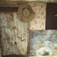 intérieur : murs, ranch Magnolia Pearl, usure