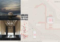 Conoce los proyectos ganadores del Teatro de las Artes de Panguipulli en Chile,Primer Lugar / Lámina 01. Image Cortesía de Organizadores