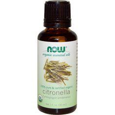 Now Foods, Organic Essential Oils, Citronella Oil, 1 fl oz (30 ml)