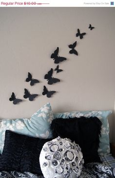 HALLOWEEN SALE Free Shipping 10 3D Butterfly Wall Art by LeeShay, $8.00